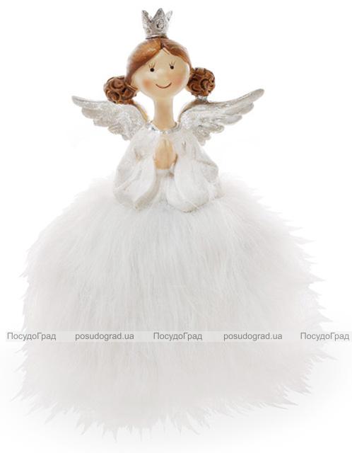 """Декоративная фигурка """"Принцесса в пышном белом платьице"""" 16см"""