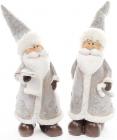 """Фігурка декоративна """"Санта Клаус в срібному"""" 19см"""