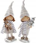 "Набор 2 декоративных фигурки ""Детки с игрушками"" 15х9х35.5см, шампань"