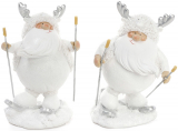 """Фігурка декоративна """"Сніговий Санта на лижах"""" 9х7х14см"""