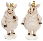 """Набор 2 декоративных фигурки """"Королевские свинки"""" 7х6.5х13.5см"""