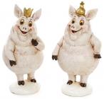 """Набір 2 декоративних фігурки """"Королівські свинки"""" 7х6.5х13.5см"""