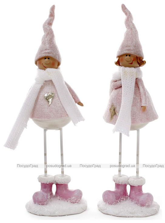 "Набор 2 фигурки ""Ребята в белоснежных шарфиках"" 6.5х5.5х21.5см, тиффани"