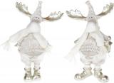 """Набор 2 фигурки декоративные """"Лоси в белых костюмах"""" 20см"""