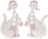 """Фігурка декоративна """"Рожевий кіт"""" 12.5см"""