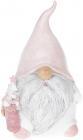 """Фігурка декоративна """"Гном з подарунками в рожевому"""" 17.2см"""