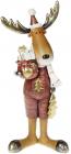 """Фігурка декоративна """"Лось з подарунками"""" 40.5см, бордо"""