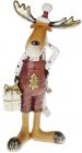 """Фігурка декоративна """"Лось з подарунками"""" 27.5см, бордо"""