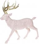 Фігура декоративна «Олень з золотими рогами» 39х18х39см, рожевий
