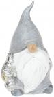 """Фігурка декоративна """"Гном з подарунками в сірому"""" 17.2см"""