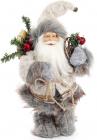 """Новогодняя игрушка """"Санта Клаус"""" 30см, в сером (101)"""
