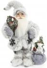 """Новогодняя игрушка """"Санта Клаус"""" 30см, в сером (103)"""
