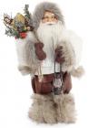 """Новогодняя игрушка """"Санта Клаус"""" 30см, в сером (104)"""