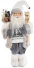 """Новорічна іграшка """"Санта Клаус"""" 46см, в сірому (110)"""