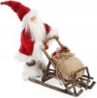 """Новогодняя игрушка """"Санта Клаус на санях"""" 35см (112)"""