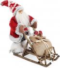 """Новогодняя игрушка """"Санта Клаус на санях"""" 35см (113)"""