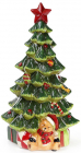 """Новогодняя музыкальная статуэтка """"Нарядная ёлка"""" с LED-подсветкой 25.5х23.5х48см"""