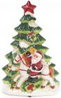 """Декоративная музыкальная статуэтка """"Санта у елки"""" 30см с LED-подсветкой"""