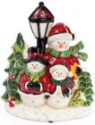 """Новорічна музична статуетка """"Тріо сніговиків"""" з LED-підсвіткою 23.7х13.9х27.8см"""
