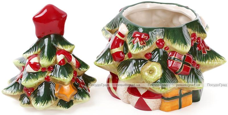 """Банка для новорічних солодощів """"Святкова ялинка"""" 23.8х21.8х30.3см"""