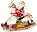 """Декоративная статуэтка """"Санта на лошадке-качалке"""" 23.3х7х20.5см"""
