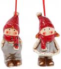 """Набір 2 новорічні декоративні підвіски """"Дітки"""" 5.5х4.2х10см"""
