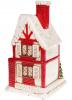"""Новогодний декор """"Кирпичный домик"""" 19.3х18х31.5см с LED подсветкой, керамика"""