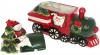 """Банка для солодощів """"Санта і Сніговик на поїзді"""" 1.8л, кераміка"""