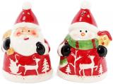 "Набор для специй ""Санта и Снеговик"" солонка и перечница 6х6.5х9см"