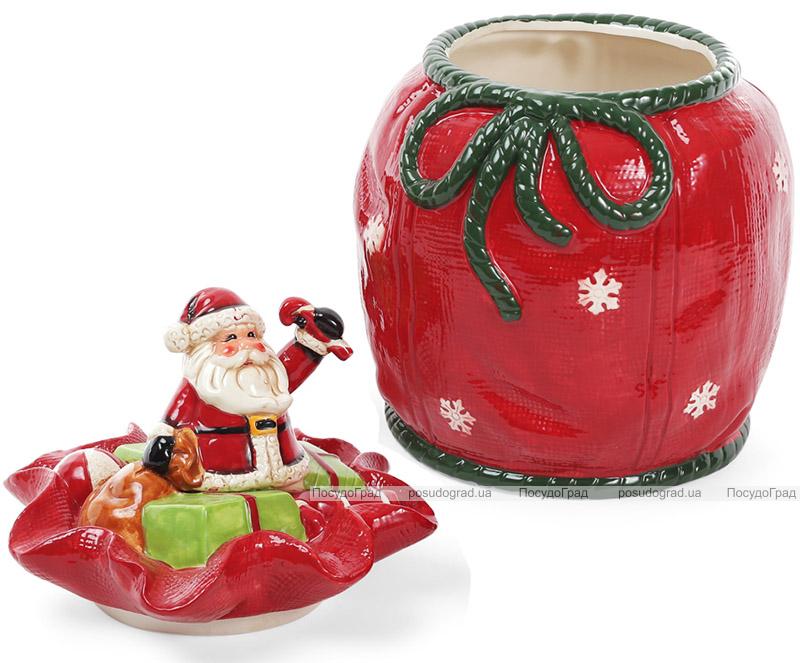 """Банка для солодощів """"Санта в мішку"""" 5.5л керамічна"""