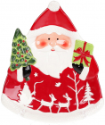 """Блюдо сервіровочне """"Санта з подарунками"""" 26х22см керамічне"""
