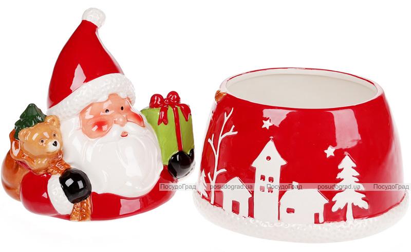 """Банка для сладостей """"Санта с подарками"""" 1.5л керамическая"""