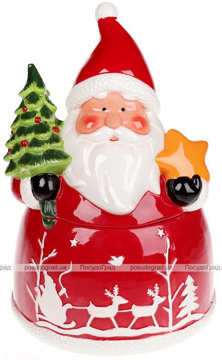 """Банка для солодощів """"Санта з подарунками"""" 3л керамічна"""
