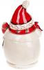 """Банка для новорічних солодощів """"Тріо сніговиків"""" 2.5л керамічна"""