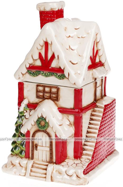 """Банка для солодощів """"Цегляний будиночок"""" 2.1л керамічна"""