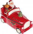 """Банка для солодощів """"Санта в машині"""", 1.5л, кераміка, червона"""