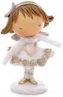 """Декоративна фігурка """"Дівчинка-ангел"""" 9.8х6.7х15см, біла"""