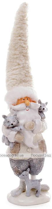 """Новорічна декоративна фігура """"Санта з лисичками"""" 9.5х8.5х30см"""