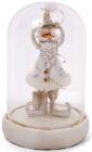 """Новорічна декоративна композиція """"Санта під ковпаком"""" з LED-підсвіткою 11.5х11.5х17.5см"""