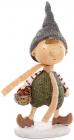 "Фігурка декоративна ""Хлопчик з кошиком яблук"" 7.5х5.5х12.5см"