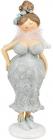 """Статуетка декоративна """"Леді в вечірньому вбранні"""" 22.7см, бірюза"""