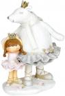Декоративна статуетка «Малятко з ведмедицею» 14х11.7х19.5см