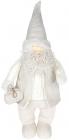 Фігура декоративна «Санта в жилетці» 25х15х61см, білий