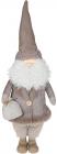 Фігура декоративна «Санта в піджаку» 24х27х59см, білий