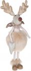 Фигура декоративная «Девочка Лось» 24х16.5х52см, розовый крем