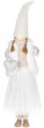 Фігура декоративна «Дівчинка з серцем» 19х10х64см, білий з рожевим