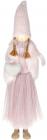 Фигура декоративная «Девочка с сердцем» 19х10х64см, розовый