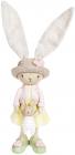 """Статуетка """"Мама і малюк"""" Зайці 8х8.5х30.5см, рожевий з жовтим"""