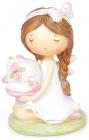 """Фігурка декоративна """"Дівчинка з тортиком"""" 13см"""