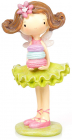 """Фігурка декоративна """"Дівчинка з печивом Макарон"""" 17см"""